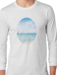 Water waves of sea and ocean Long Sleeve T-Shirt
