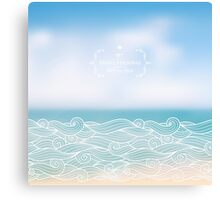 Water waves of sea and ocean Canvas Print