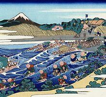 'Fuji From Kanaya on Tokaido' by Katsushika Hokusai (Reproduction) by Roz Abellera Art Gallery
