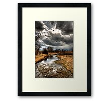 A Storm Approaches Framed Print