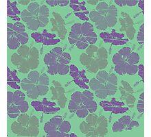 Green flowers Photographic Print