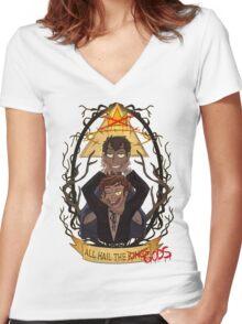 All Hail the Gods Women's Fitted V-Neck T-Shirt