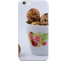 The quail eggs inside the white cup iPhone Case/Skin