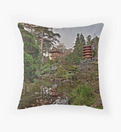 Japanese Tea Garden in Golden Gate Park Throw Pillow