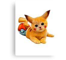 Pikachu the Kitty Canvas Print