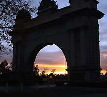 Sunrise at Victory Arch by Lois Romer