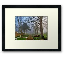 Foggy Path Through the Churchyard Framed Print