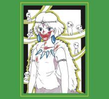 Princess Mononoke and her Kodama - drawing Kids Clothes