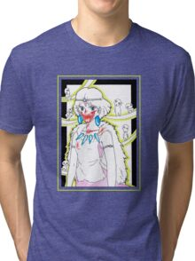 Princess Mononoke and her Kodama - drawing Tri-blend T-Shirt