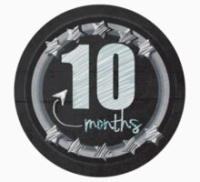 10 Month Pictures Decal For Infants Chalkboard Style by floppypoppygift