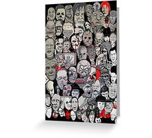 Titans of Horror Greeting Card