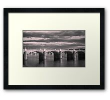 Evening on the Susquehanna Framed Print