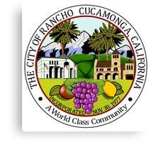 Seal of Rancho Cucamonga  Canvas Print
