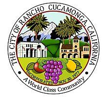 Seal of Rancho Cucamonga  Photographic Print