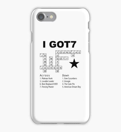 GOT7 Crossword Puzzle iPhone Case/Skin