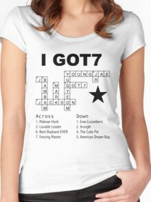 GOT7 Crossword Puzzle Women's Fitted Scoop T-Shirt