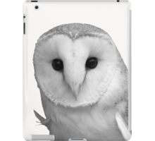 Curious Barn Owl (b&w) iPad Case/Skin