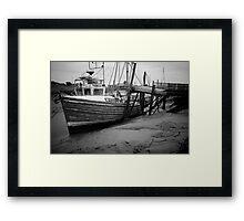 A Challenge, Gibraltar Point, Lincolnshire Framed Print