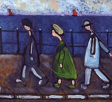 3 people and a dog on a promenade.... or the disappearing dog by sword