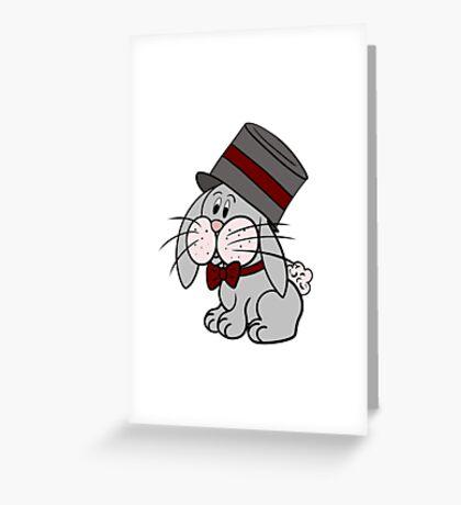 Magician Rabbit Greeting Card