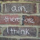 I am, therefore I think. by Tracy Duckett