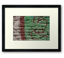 Tagged Wall Series 2 Framed Print