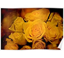 Yellow Happiness Roses Poster