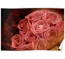 Pink Love Roses Poster