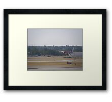 Virgin Blue Plane Landing. Perth International Airport. Framed Print