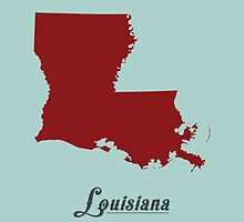 Louisiana - States of the Union by Michael Bowman