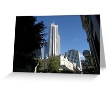 Skyscraper Viewed From The City Streets. Perth. Greeting Card