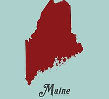 Maine - States of the Union by Michael Bowman