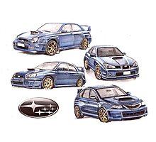Subaru evolution ? Photographic Print