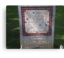 Crossword Headstone Canvas Print