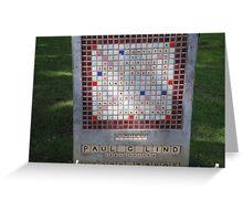 Crossword Headstone Greeting Card