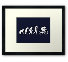 Funny Cycling Evolution T Shirt Framed Print