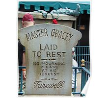 Master Gracey's Tomb - Haunted Mansion, Magic Kingdom Poster