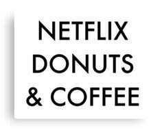 Netflix Donuts & Coffee Canvas Print