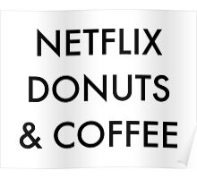 Netflix Donuts & Coffee Poster