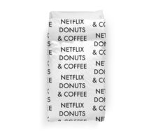 Netflix Donuts & Coffee Duvet Cover