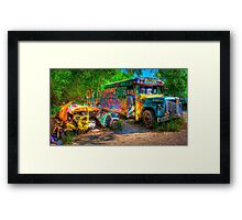 Jimbo's Magic Bus (and Squashed Bug, too) Framed Print