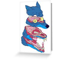 Dissected Wolf Greeting Card