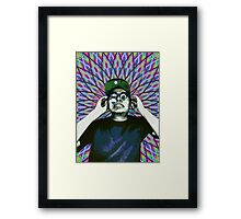 Crazy Dude Framed Print