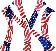 American Flag New York Yankees Logo by christyefox
