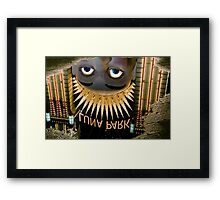 Luna Park Face Reflection, Sydney Framed Print