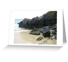 Rocks, Sand and Sea - Hebridean Seascape Greeting Card