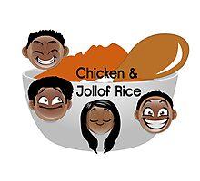 Chicken & Jollof Rice show logo Photographic Print
