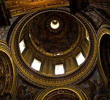 Interno della cupola di S.Agnese in Agone, Roma by Andrea Rapisarda