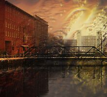 Pawtucket Canal At Central Street by Doug Wilkening