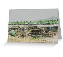 Kompong Chhnang floating villages, Cambodia Greeting Card